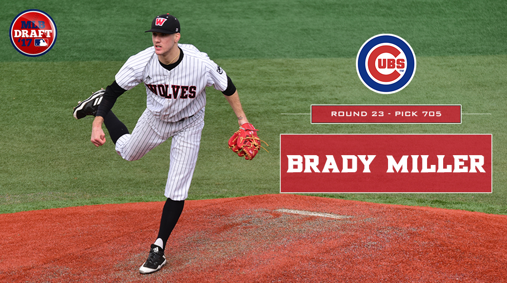 Brady Miller drafted by Chicago Cubs - Western Oregon University